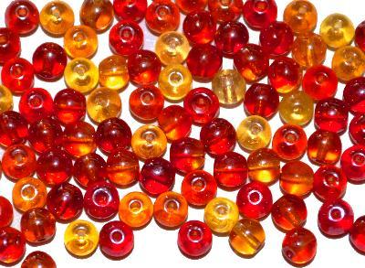 Best.Nr.:63374 Glasperlen in den 1930/40 Jahren in Gablonz/Böhmen hergestellt, farbmix mit lüster, (Prosserbeads)