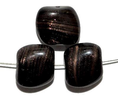 Best.Nr.:63884 Glasperlen in den 1940/50 Jahren in Gablonz/Böhmen hergestellt, schwarz mit Aventurin (Goldstone) (nur wenige auf Lager)