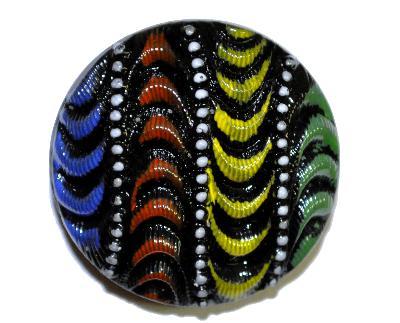 Best.Nr.:43384 Glasknopf, handgefertigt, handbemalt In Gablonz / Böhmen hergestellt. (nur einmal auf Lager)