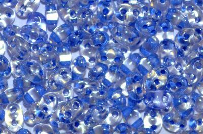Best.Nr.:78051 Twin Beads von Ornella Preciosa Tschechien kristall mt Farbeinzug blau und lüster