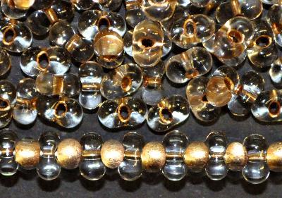Best.Nr.:00847 Farfalle Rocailles von Preciosa Tschechien kristall mit Messingeinzug