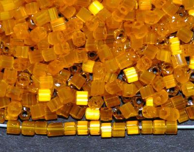 Best.Nr.:16027 Schnittperlen  Satinglas topas,  hergestellt von Ornella Preciosa Tschechien,