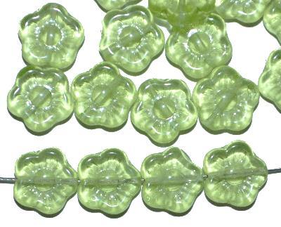 Best.Nr.:50216 Glasperlen Blüten,  hellgrün transp.