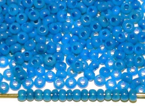 Best.Nr.:05026 Rocailles von Ornella Preciosa Tschechien, Alabasterglas blau