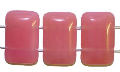 Best.Nr.:49034 Glasperlen mit zwei Löchern, rosa opal, hergestellt in Gablonz / Tschechien
