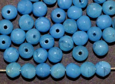 Best.Nr.:63762 Glasperlen rund blau, in den 1910/20 Jahren in Gablonz/Böhmen hergestellt