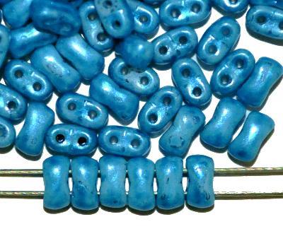 Best.Nr.:79004 Glasperlen mit zwei Löchern, Twin Hole Beads, blau