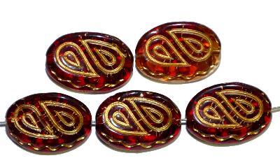 Best.Nr.:59223 Antik style Glasperlen,  nach alten Vorlagen  aus den 1920 Jahren neu gefertigt,  mit gold finish