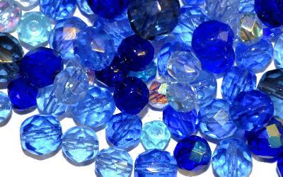 Best.Nr.:41060 facettierte Glasperlen  Mischung,  hergestellt in Gablonz / Tschechien