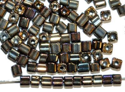 Best.Nr.:19176 2-cut Beads von Preciosa Ornella Tschechien hergestellt, metallic, Würfelform
