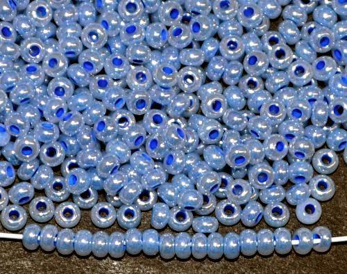 Best.Nr.:06025  Rocailles von Ornella Preciosa Tschechien,  blau ceylon (Perlmuttglanz)