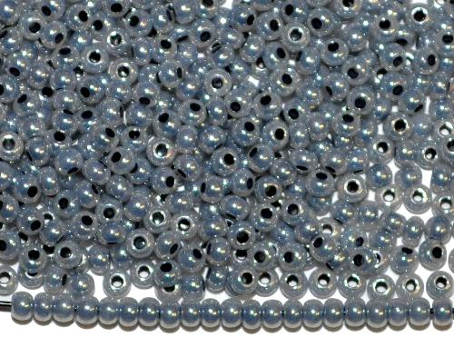 Best.Nr.:06026  Rocailles von Ornella Preciosa Tschechien,  grau ceylon (Perlmuttglanz)