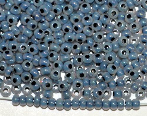 Best.Nr.:06032 Rocailles von Ornella Preciosa Tschechien,  schieferblau ceylon mit light AB