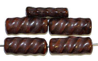 Best.Nr.:49325 Glasperlen,  braun opak, hergestellt in Gablonz / Tschechien
