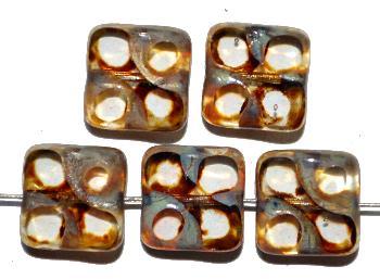 Best.Nr.:671157 Glasperlen / Table Cut Beads kristall, geschliffen mit picasso finish