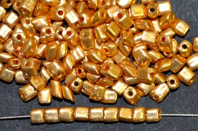 Best.Nr.:19324 Glasperlen / cut pipes von Preciosa Ornella Tschechien,  goldfarben,