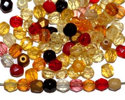 Best.Nr.:s-0032 geschliffene Glasperlen, hergestellt in Gablonz Tschechien, Farbmix so oder �hnlich