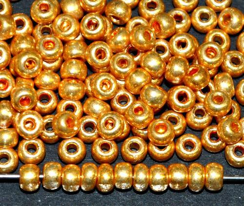 Best.Nr.:07021 Rocailles von Ornella Preciosa Tschechien,  metallic gold