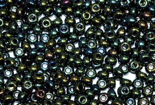 Best.Nr.:07033 Rocailles von Ornella Preciosa Tschechien,  metallic grün