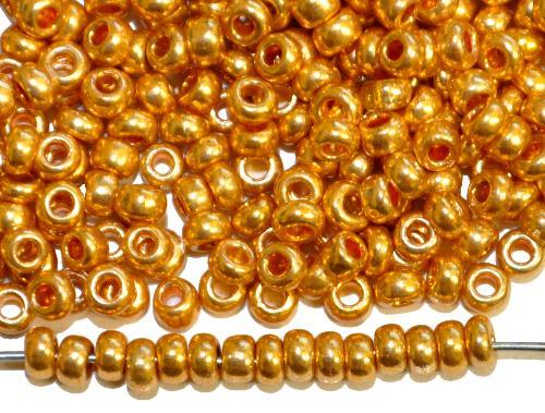 Best.Nr.:07050 Rocailles von Ornella Preciosa Tschechien,  metallic gold