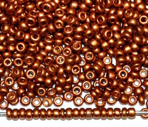 Best.Nr.:07055 Rocailles von Ornella Preciosa Tschechien, kupferfarben leicht mattiert