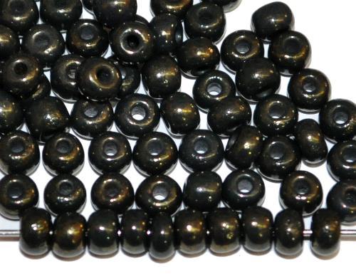 Best.Nr.:07057 Rocailles von Ornella Preciosa Tschechien, schwarz opak mit light metallic finish