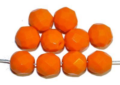 Best.Nr.:26103 facettierte Glasperlen,  orange opak,  hergestellt in Gablonz / Tschechien