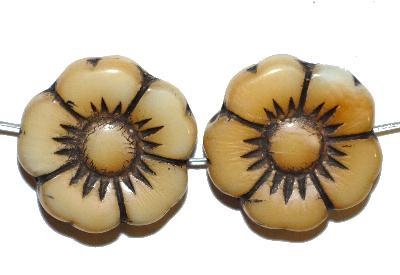 Best.Nr.:50217 Glasperlen Blüte, in Gablonz/Böhmen gefertigt,