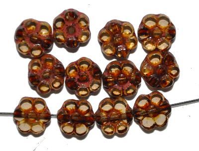 Best.Nr.:67724 Glasperlen / Table Cut Beads, geschliffen mit picasso finish