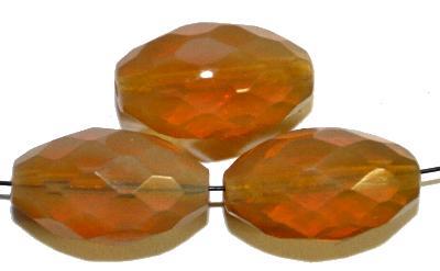 Best.Nr.:26420 Glasperlen geschliffen Oliven aus Opalglas,hergestellt in Gablonz / Tschechien