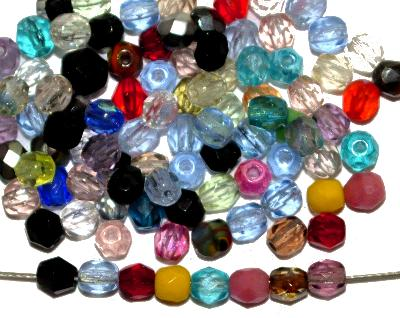 Best.Nr.:s-0033 geschliffene Glasperlen, hergestellt in Gablonz Tschechien, Farbmix so oder �hnlich