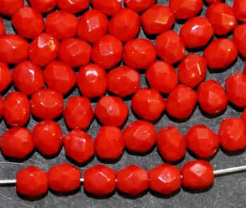 Best.Nr.:26606 facettierte Glasperlen rot opak