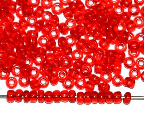 Best.Nr.:08047 Rocailles von Ornella Preciosa Tschechien, rot transp.