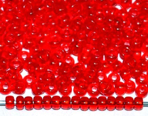 Best.Nr.:08051 Rocailles von Preciosa Ornela Tschechien, rot transp.