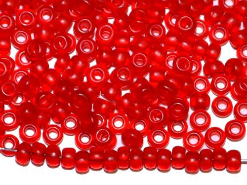 Best.Nr.:08065 Rocailles von Ornella Preciosa Tschechien  rot transp. mattiert (frostet)