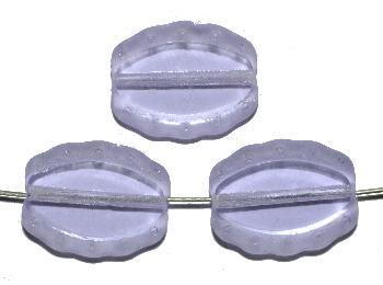 Best.Nr.:671300 Glasperlen / Table Cut Beads geschliffen, lila, Rand mattiert (frostet), nach alten Vorlagen aus den 1930/40 Jahren neu gefertigt