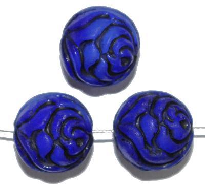 Best.Nr.:59117 vintage style Glasperlen ,Rosenblüte , nach alten Vorlagen aus den 1920 Jahren in Gablonz/Böhmen neu gefertigt,