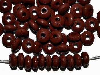 Best.Nr.:63725 Glasperlen / Trade Beads, Linsen, braun opak, in den 1930/40 Jahren in Gablonz/Böhmen hergestellt, (Prosserbeads)
