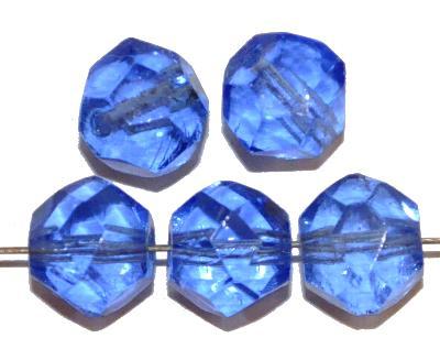 Best.Nr.:76070 geschliffene Glasperlen, aqua transp., um 1920/30 in Gablonz/Böhmen hergestellt