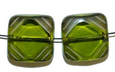 Best.Nr.:671373 Glasperlen geschliffen / Table Cut Beads geschliffen, hergestellt in Gablonz / Tschechien
