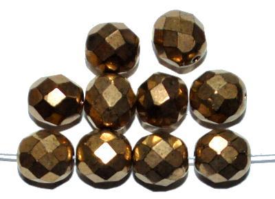 Best.Nr.:28292 facettierte Glasperlen,  messig metallic finish,  hergestellt in Gablonz / Böhmen
