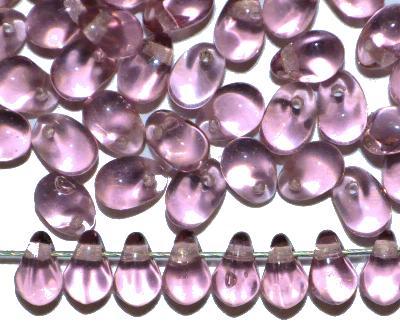 Best.Nr.:55081 Glasperlen Tropfen, frenchviolett transp.