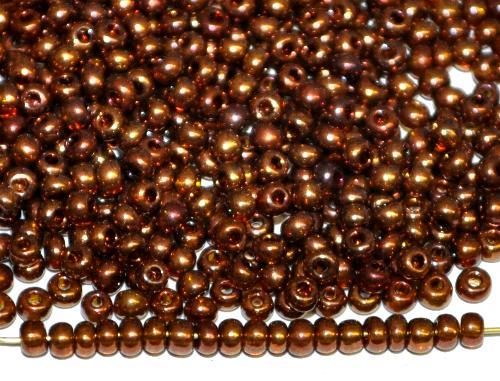 Best.Nr.:09046 Rocailles von Preciosa Ornella Tschechien hergestellt,  topas bronziert