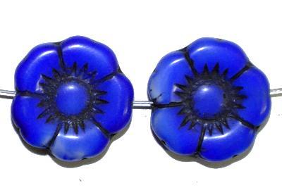 Best.Nr.:50187 Glasperlen Blüte, blau, in Gablonz/Böhmen gefertigt,