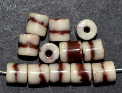 Best.Nr.:63672 Glasperlen ( tilt-beads ) in den 1920/30 Jahren in Gablonz/Böhmen hergestellt, beige braun, (Prosserbeads) (nur wenige auf Lager)