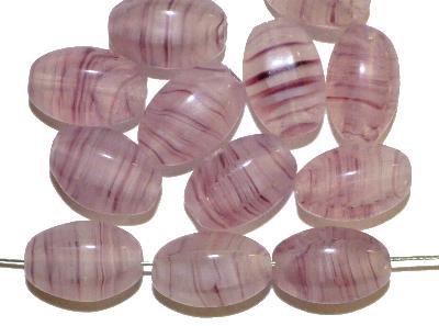 Best.Nr.:46359 Glasperlen Oliven sechseckig, violett, hergestellt in Gablonz / Tschechien,