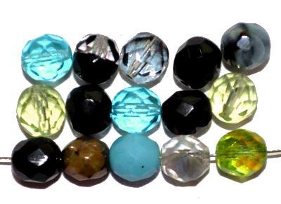 Best.Nr.:s-0047 geschliffene Glasperlen, hergestellt in Gablonz Tschechien, Farbmix so oder �hnlich