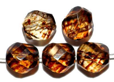 Best.Nr.:27033 geschliffene Glasperlen, kristall mit picasso finish