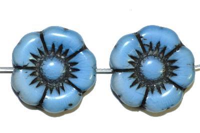 Best.Nr.:50066 Glasperlen Blüte, hellblau, in Gablonz/Böhmen gefertigt,