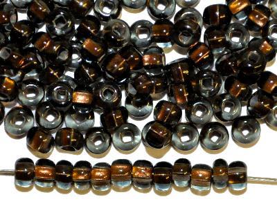 Best.Nr.:11178 Rocailles von Preciosa Tschechien, blackdiamond mit Messingeinzug
